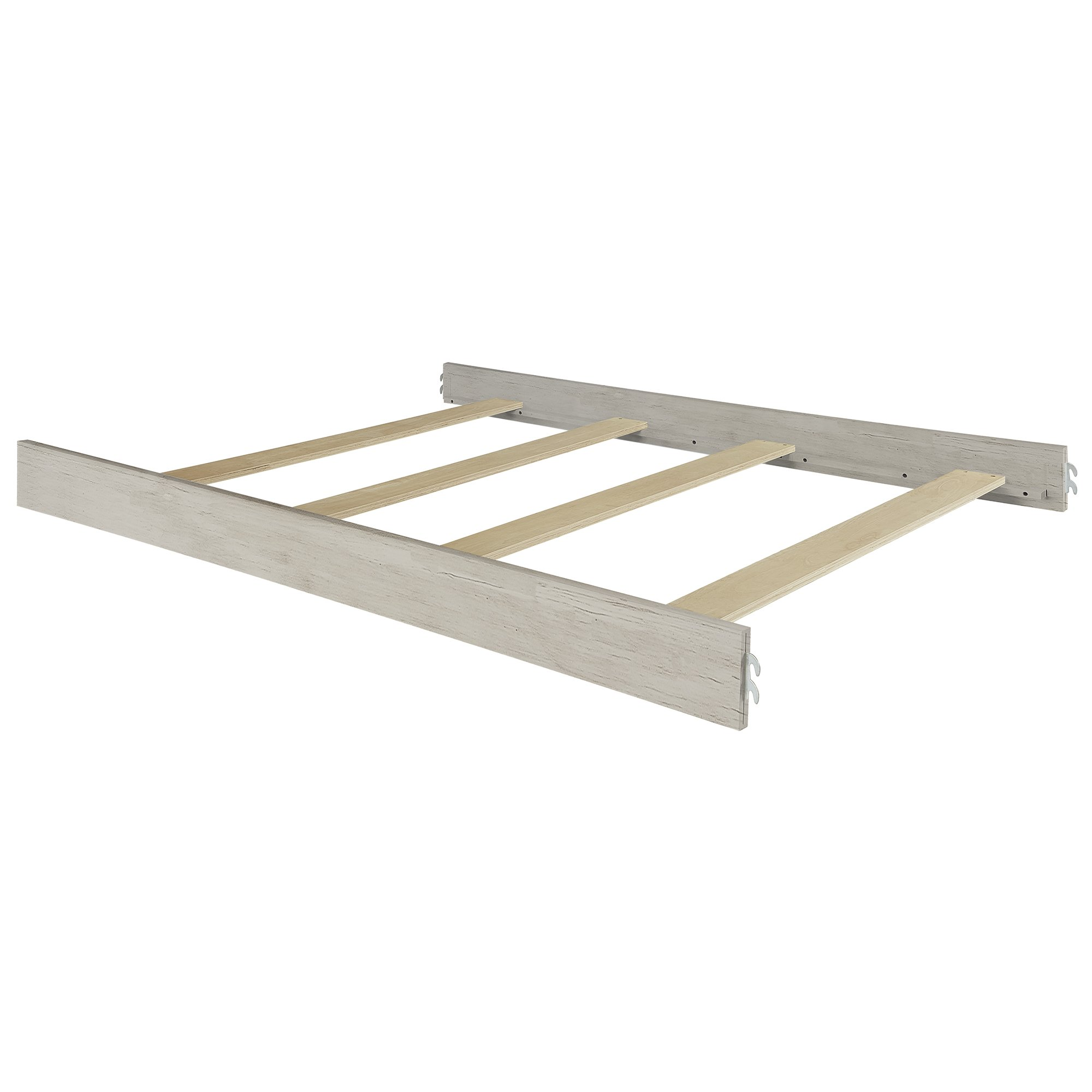 Evolur Universal Convertible Crib Wooden Full Size Bed Rail, Antique Grey Mist