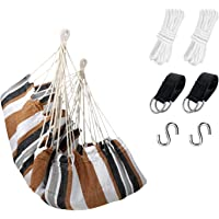 KPX Ourdoor Hanging Hammock Chair – Comfortable Tree Swing Chair Large Size 110X130cm - 330 Lbs Weight Capacity