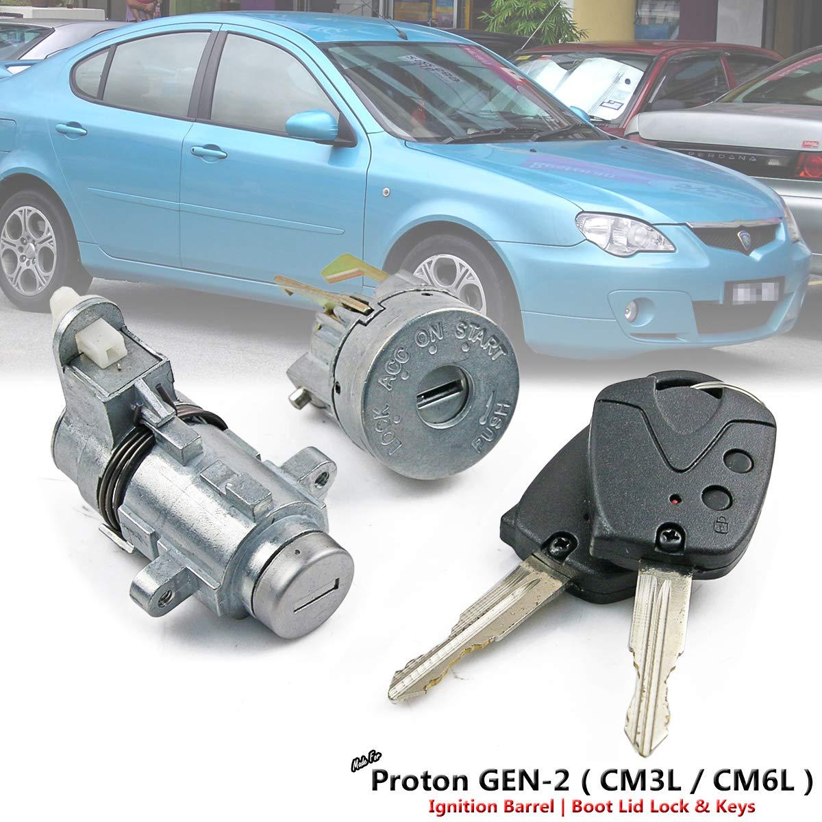Ignition Barrel & Lid Lock + Key For Proton GEN-2 GEN2 CM3L CM6L 04-12 PW891474 by D&D (Drag & Drift)