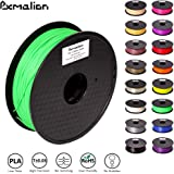 Pxmalion PLA 3D Filament, Green, 1.75mm, Accuracy +/- 0.03mm, Net Weight 1KG(2.2LB), Compatible with most 3D Printer & 3D Printing Pen