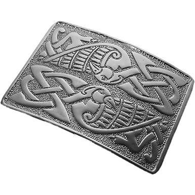 901b76ed9366 Tartanista - Boucle de ceinture de kilt Deluxe - motif celtique oiseaux