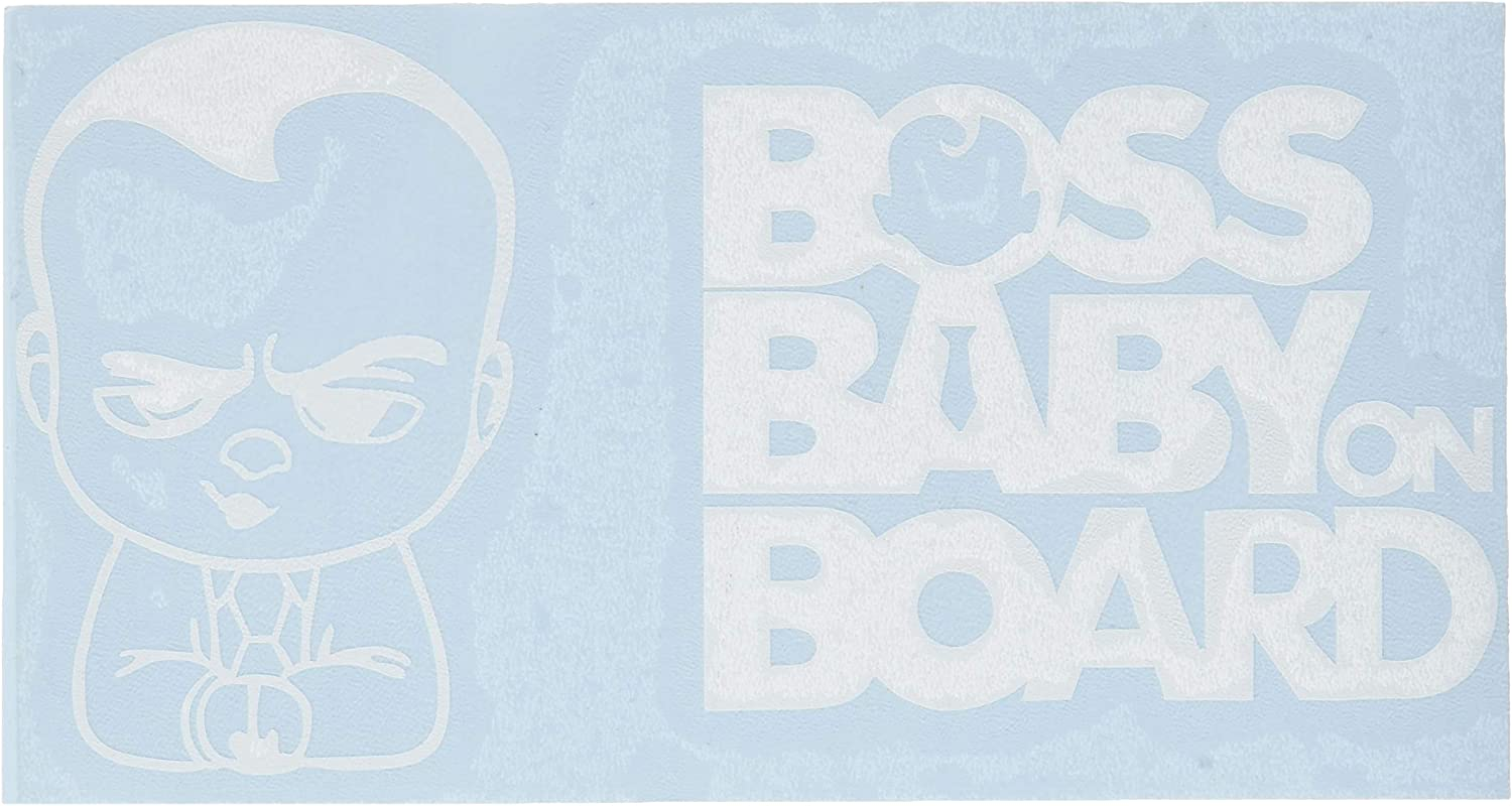 Window A/&B Traders Cute Boss Baby On Board Funny Car//Van Safety Caution Sign for Cars 5.7inch Laptop Vinyl Decal Baby on Board Sticker