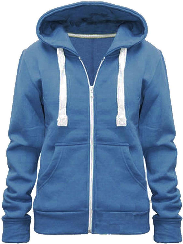 xpaccessories Boys Girls Plain Coloured Hoodie Jacket Kids Children Pockets Zip Up Warm Hoody Hooded Sweatshirt Outerwear Tops UK Age 3-13