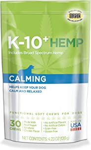 K-10+ Supplements for Dogs; Probiotics, Urinary Tract, Skin & Coat, & Hemp Immune Supplements