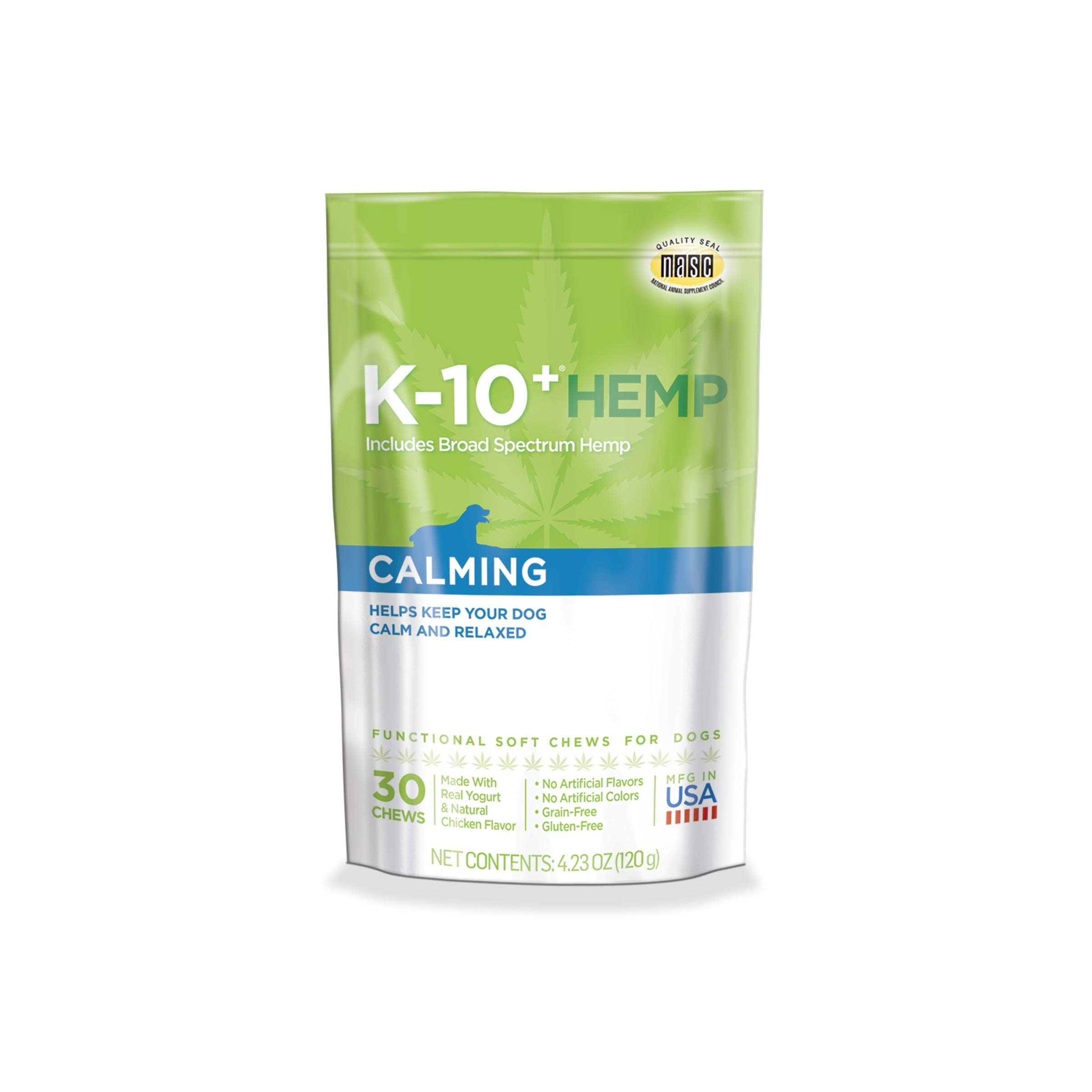 K-10+ Hemp Calming Daily Supplement for Dogs - 4.23 oz. Pouch by K-10+