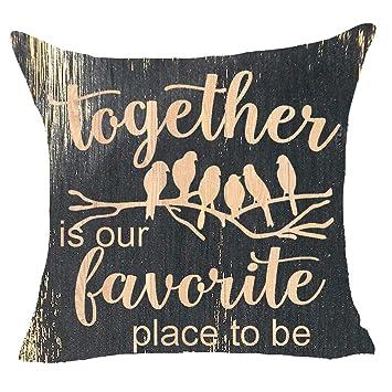 Amazon.com: FELENIW Home Sweet Motivational Saying Throw ...