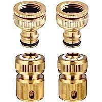 CT 4-delige tuinslangtapconnector 1/2 inch en 3/4 inch Maat 2-in-1 en 1/2 inch slangplug-snelkoppeling