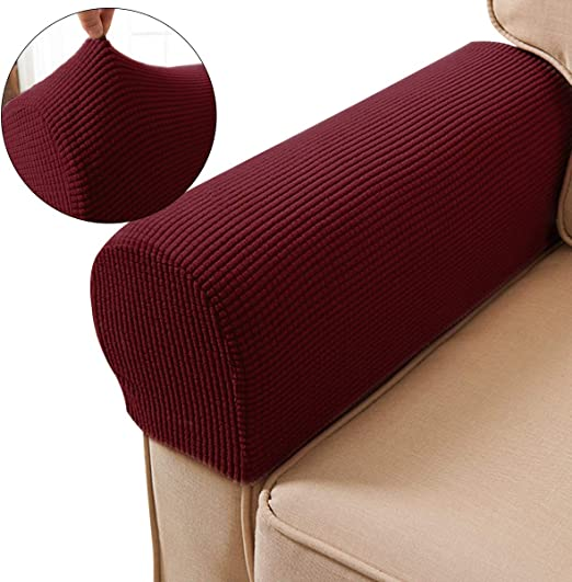 US Removable Arm Stretch-Sofa Couch Chair Protector Armchair Rest Covers