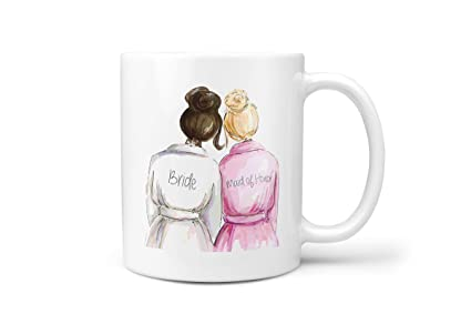 weddingbridal shower gifts ceramic coffee mug bride and maid of honor