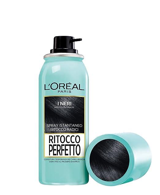 153 opinioni per L'Oréal Paris Ritocco Perfetto Spray Istantaneo Ritocco Radici, 1 Nero