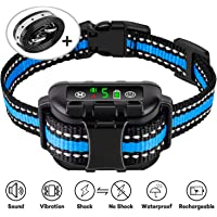 Casfuy Dog Bark Collar Upgraded - IP67 Waterproof Rechargeable 5 Sensitivity Dog Anti Bark Collar with Beep Vibration Safe Shock and No Shock for Small Medium Large Dogs (8-120 LBS)