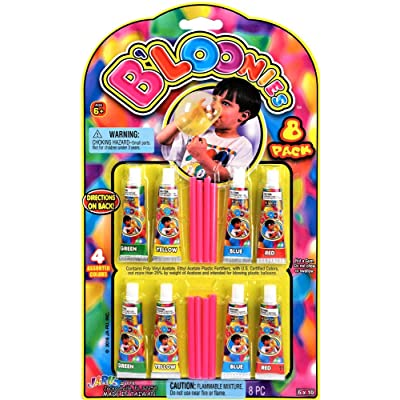 JA-RU B'loonies Plastic Balloon Variety 8 Tubes. Great Original Bloonies Bubble Making. 774-1A: Toys & Games