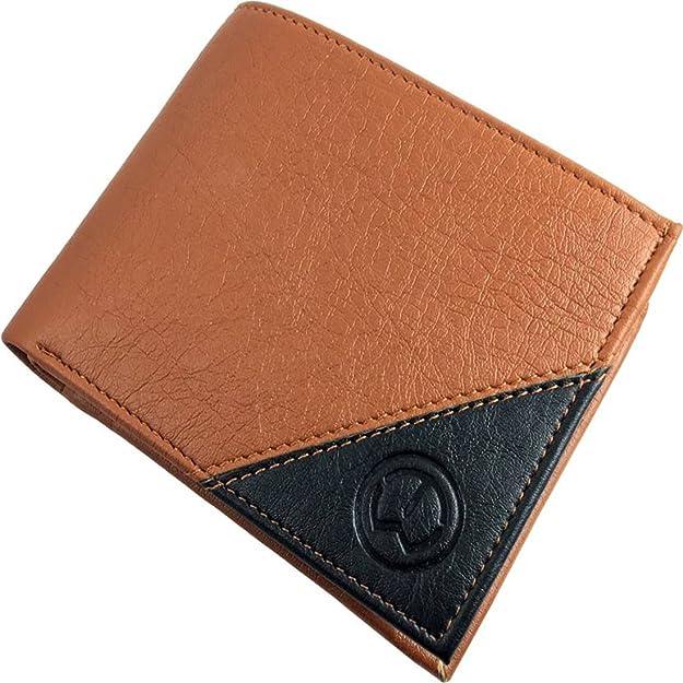 TnW Men's Tan Artificial Leather Wallet