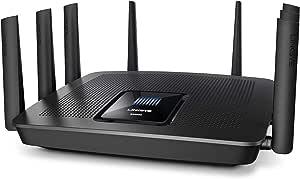 Linksys EA9500 Max-Stream AC5400 MU-MIMO Tri-Band WiFi Router (4 Gigabit Ethernet Ports, 4K HD Streaming & Gaming)