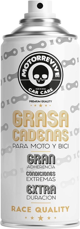 Motorrevive - Grasa Cadenas en Spray para Moto, Bicicleta y Otras Herramientas - 400 ml: Amazon.es: Coche y moto
