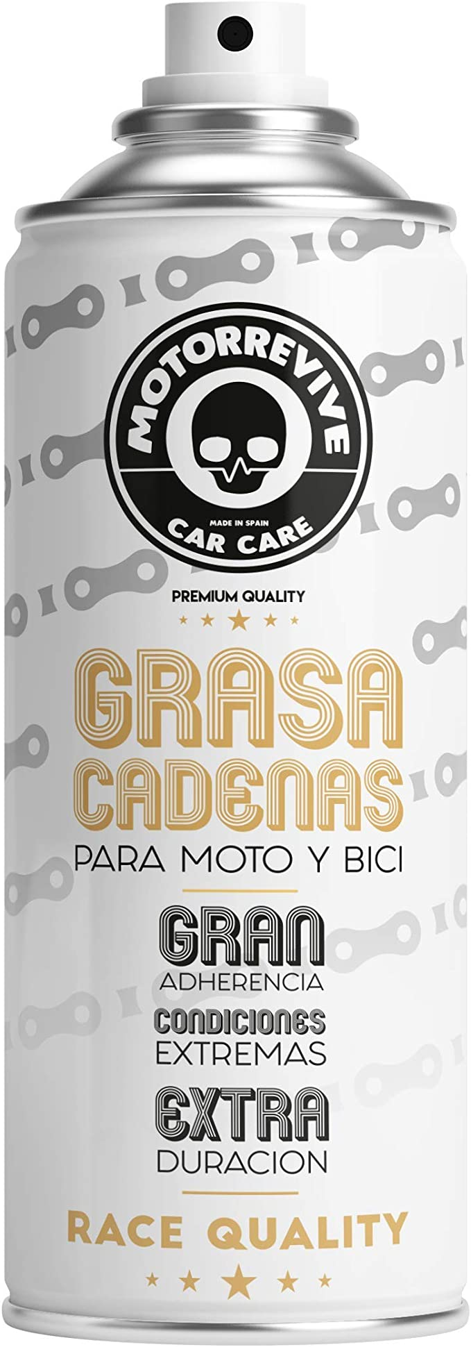 Motorrevive - Grasa Cadenas en Spray para Moto, Bicicleta y Otras ...