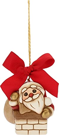 Addobbi Natalizi Thun.Thun Mini Babbo Natale Nel Camino Da Appendere Addobbo Natalizio Per Albero Con Fiocco Rosso Ceramica I Classici Amazon It Casa E Cucina
