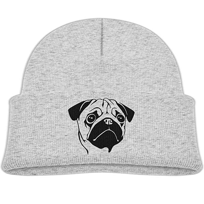 d7be76e32c0 cqelng oii Pug Face Knit Hats Beanie Caps Skull Caps Trendy Boy Warm Soft  Baby