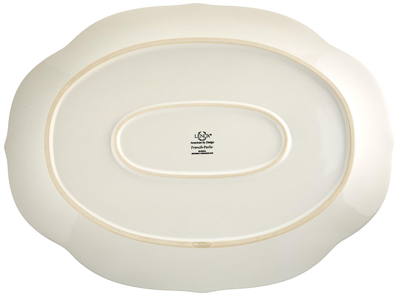 sc 1 st  Amazon.com & Amazon.com: Lenox French Perle Oval Platter White: Kitchen \u0026 Dining