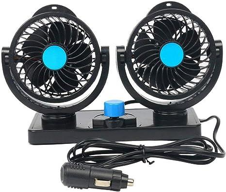 FreeTec - 360 ° Giro 12 V Ventilador Auto Ventilador Ajustable ...