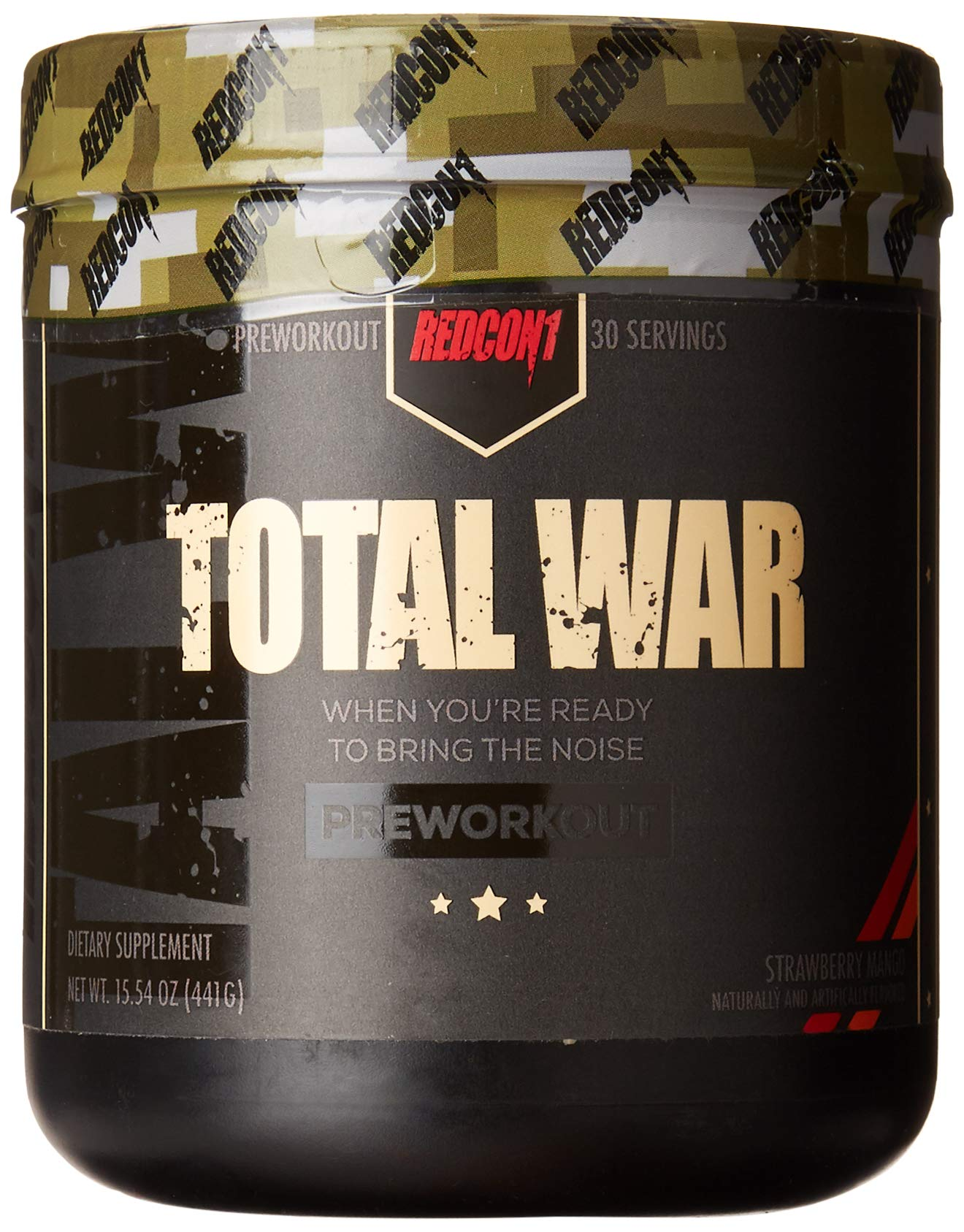 Total War - Pre Workout - 30 Servings - Newly Formulated (Strawberry Mango) by Redcon1