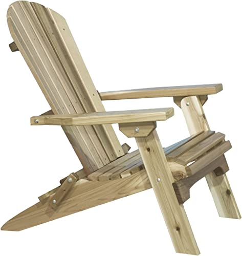Montana Woodworks Montana Collection Western Red Cedar Folding Adirondack Chair, Ready to Finish