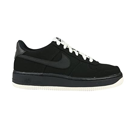 the best attitude 5370d c64c7 Nike air Force 1 (GS) Trainers 596728 Sneakers Shoes (5.5 M US Big Kid, Black  Black sail 027)