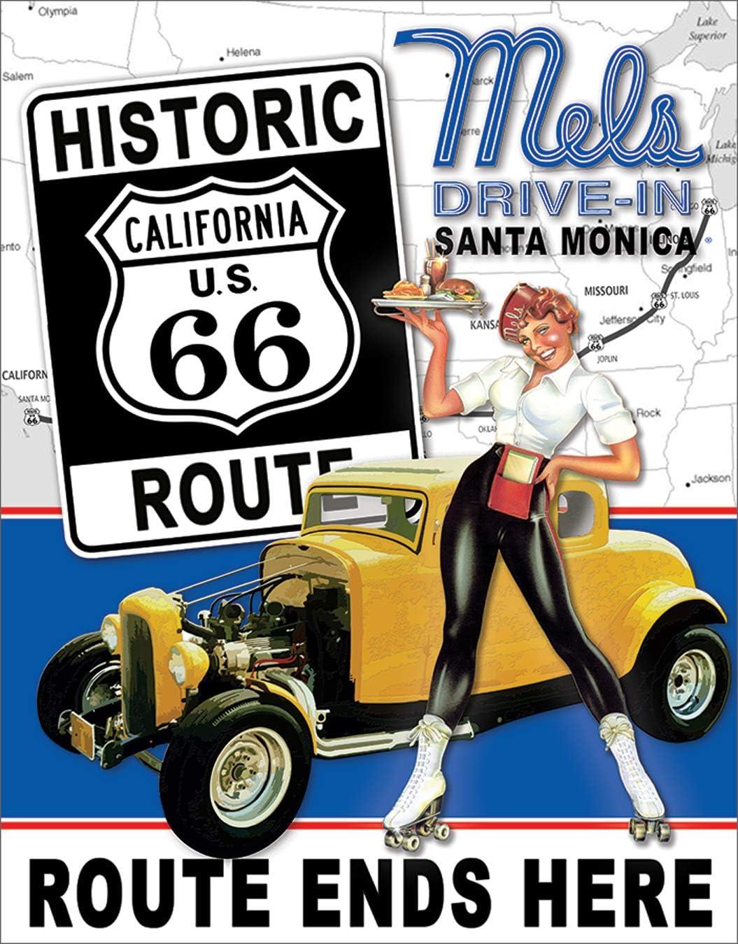 Amazon.com: Ruta 66 America Highway Tin Sign 13 x 16 en ...