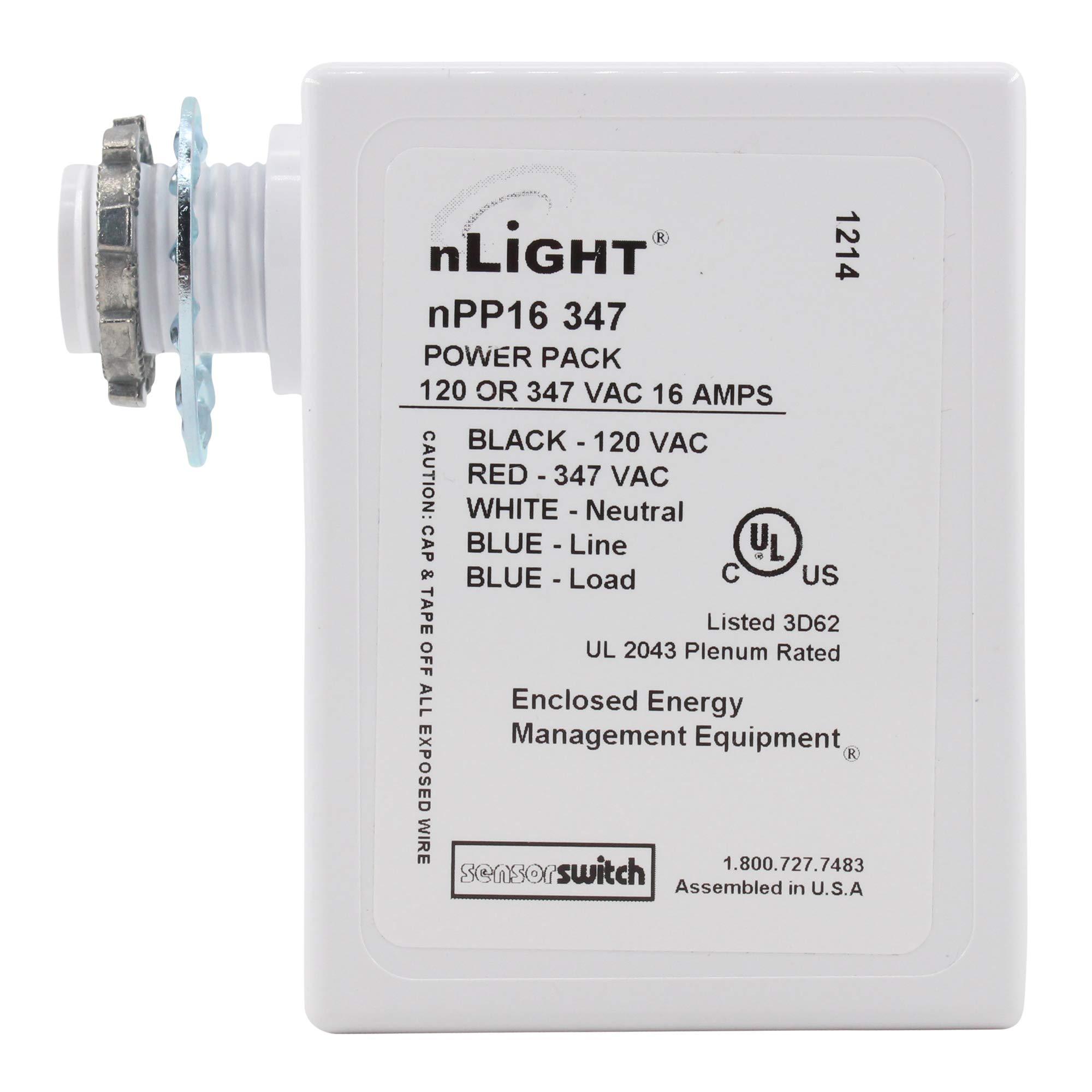 Sensor Switch NPP16-347 nLIGHT Occupancy Sensor Power Pack, Plenum, 16A, 347V
