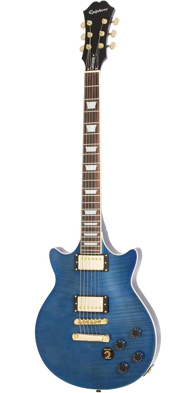 Epiphone eggnmsgh3 Genesis Deluxe Pro diseño guitarra eléctrica, Midnight Sapphire: Amazon.es: Instrumentos musicales