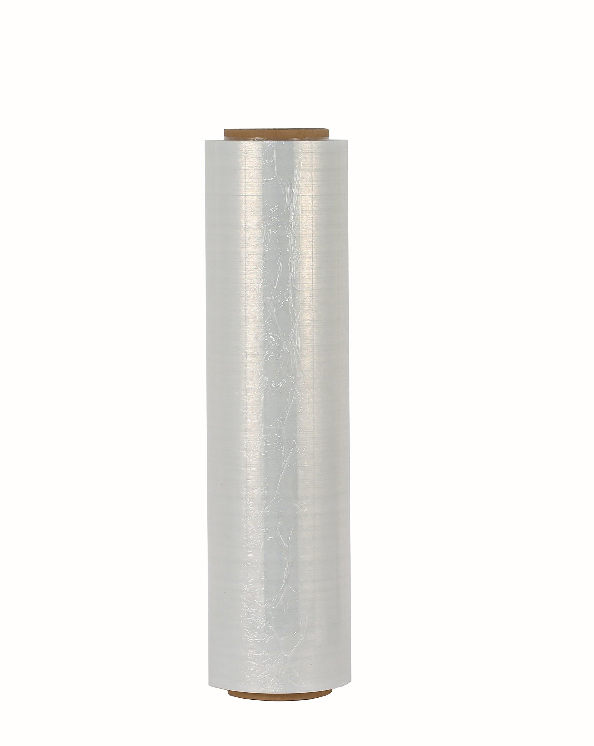 MuzGlobal Cast Stretch Wrap Film-1000 Length x 18'' Width Clear 80 gauge. (Pack of 4) by MuzGlobal