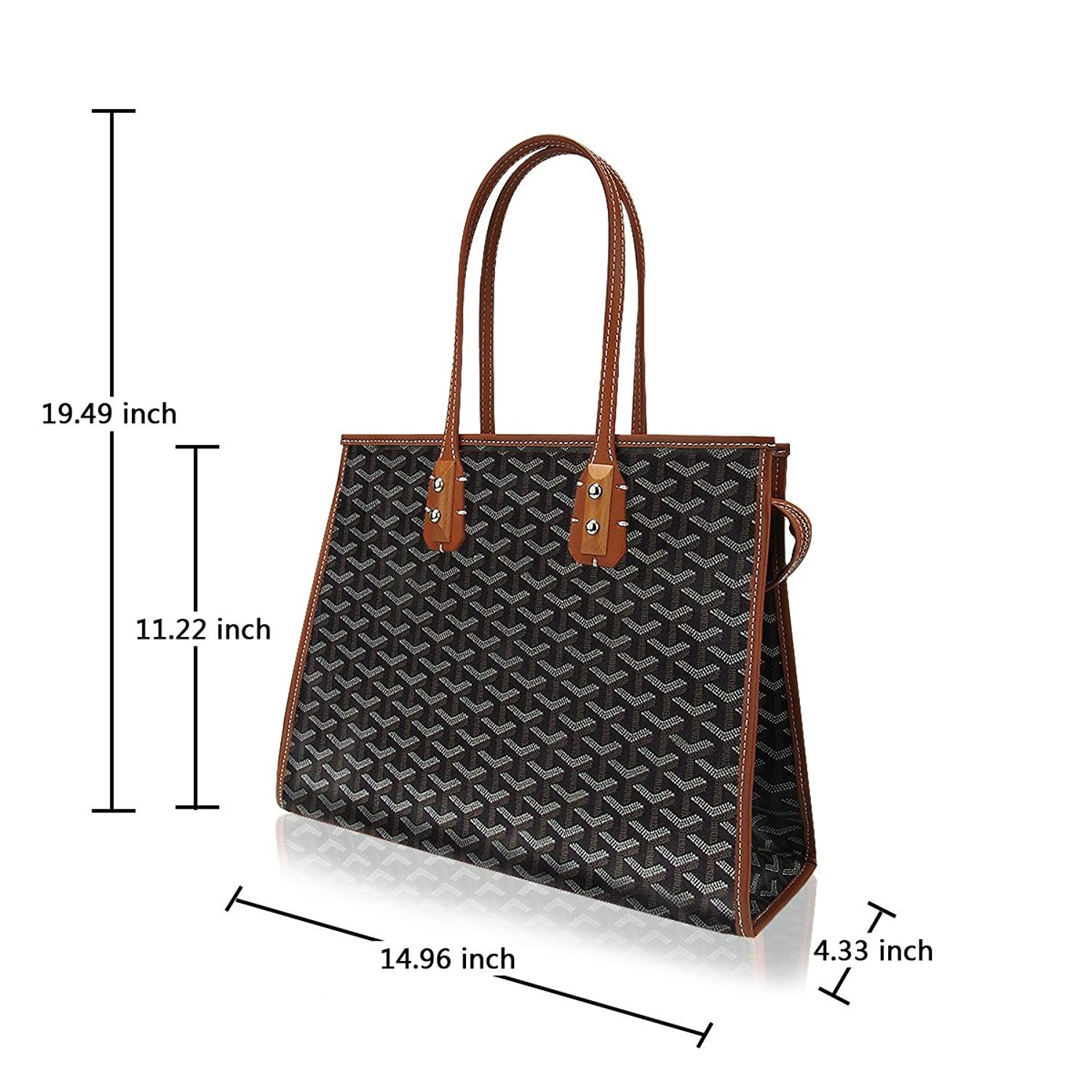 3926552ab116 Amazon.com: Stylesty High Grade Fashion Shopping PU Tote Bag Set, Designer  Shoulder Handbags top Handle Bag (Apricot): Shoes