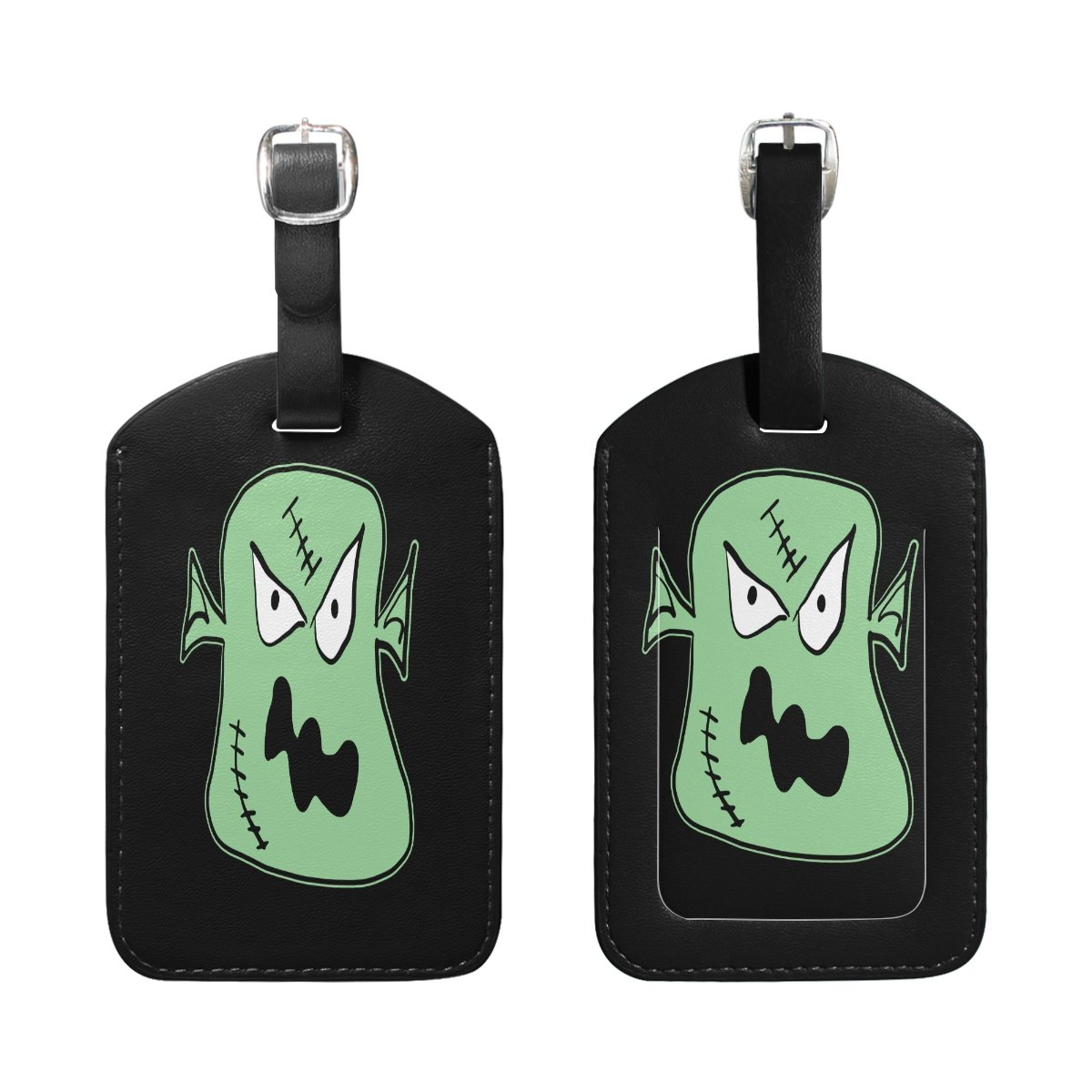 1Pcs Saobao Travel Luggage Tag Halloween Green Clown PU Leather Baggage Suitcase Travel ID Bag Tag