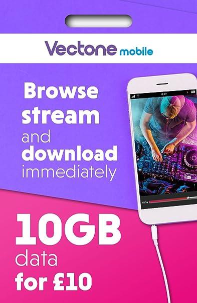Vectone Mobile Tarjeta SIM Tarjeta SIM de | precargado | uso ...