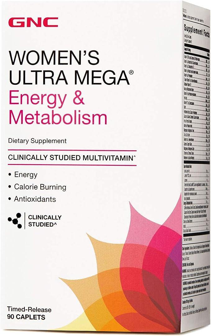 Ultra Womens Mega Energy e Metabolism Vitamina 90 Caps GNC por GNC