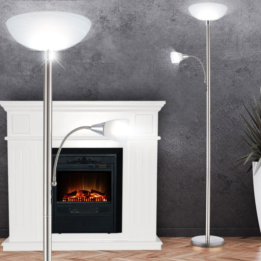LED 7 Watt Deckenfluter Stehleuchte Wohnzimmerlampe Stehlampe Fluter Leuchte Globo 58931LED Amazonde Beleuchtung