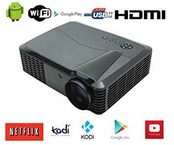 3D Proyector WiFi 1080P Full HD Video Proyector LED Proyector Cine ...