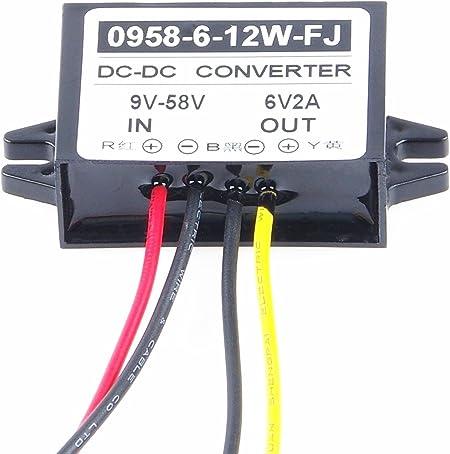 Changes to 6V 3A 18W Step Down car Power inverters Input DC 9V-58V Output 6V Waterproof Power adapters 9V-58V KNACRO Buck Boltage Converters 12V 24V 36V 48V