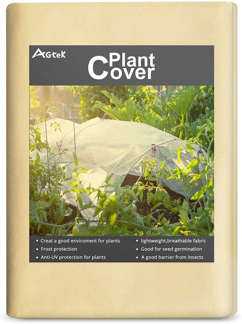 AGTEK Floating Row Covers 1.7oz 8x30 FT Plant Covers for Frost Protection /& Seed Germination