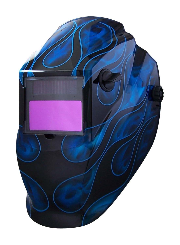 Metal Man ABB8700SG 9-13 Variable Shade Professional Auto-Darkening Welding Helmet Blue Flame