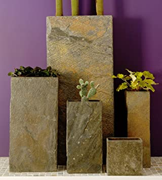 Ingarden Stone Garden Planters. Beautiful Slate Garden Planters / Plinths  In 5 Sizes Large