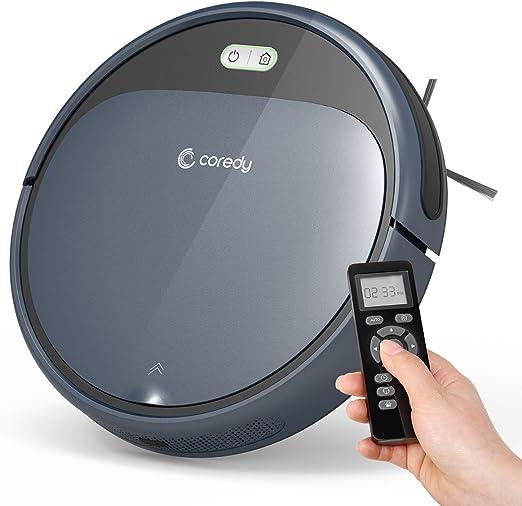 Coredy Robot Aspiradora 1400Pa Super-Strong Suction, Ultra Delgada, Automática Autocarga Robot Aspirador para Limpieza de Suelos de Madera Dura a Alfombras Medio-Pile Filtro para Mascota Fácil Limpieza Programada: Amazon.es: Hogar