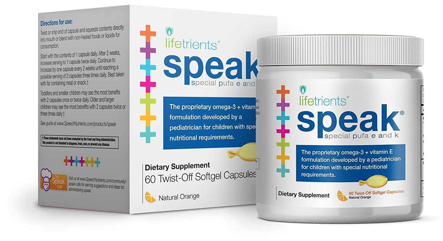 Amazon.com: Lifetrients Speak+D Twist-Off Softgels – Natural Orange – 60 Softgels | Pediatrician Formulated to Support Children with Special Nutritional ...