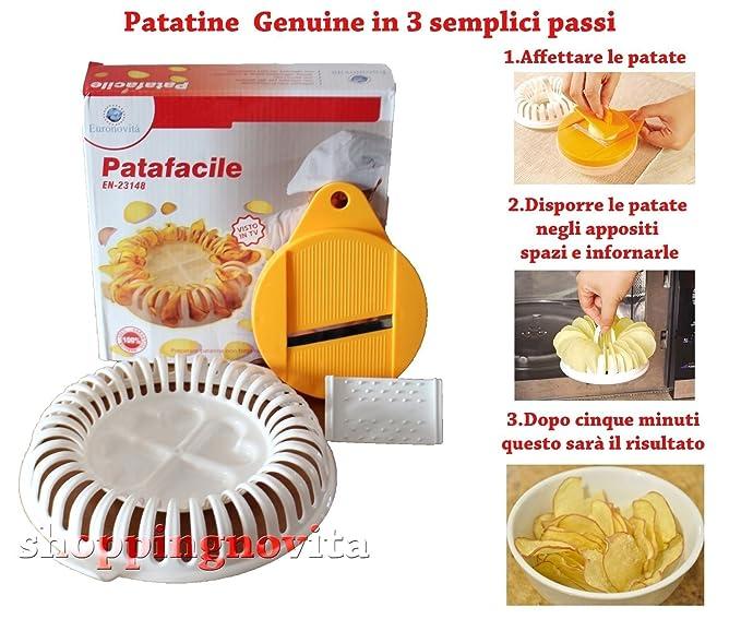 150 opinioni per Patafacile, attrezzo per realizzare Patatine chips senza oli ne grassi in