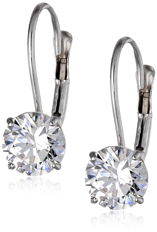 10k Gold Swarovski Zirconia Dangle Earrings (2 cttw) Amazon Collection 64629/10W/ZZ/STD
