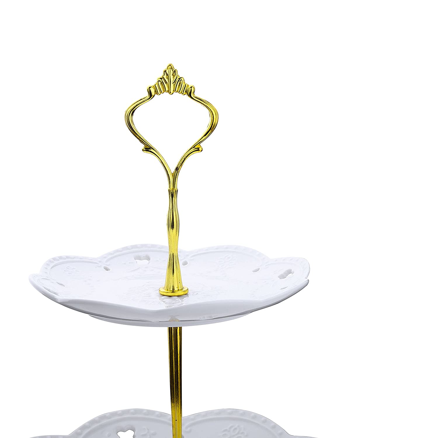 Tapas or Cheese Cakes Malacasa 3 Tier Natural Slate Cake Stand 10 Inch Square Tea Party Server Serving Set for Cupcakes Cookies