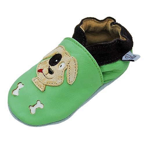 Lappa.de - Zapatillas de piel para niños (suela de goma, tallas de