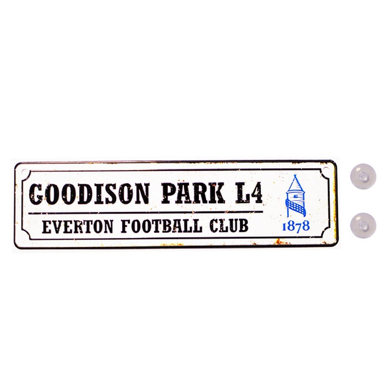 Novelty Football Gift Ideas Car Accessories Official Everton FC Street Sign