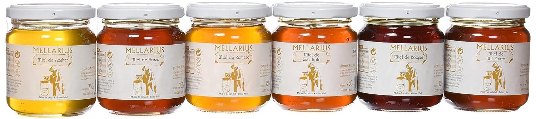 Miel Mellarius packaging 6 variedades 250g -Total 1500 g: Amazon.es: Alimentación y bebidas
