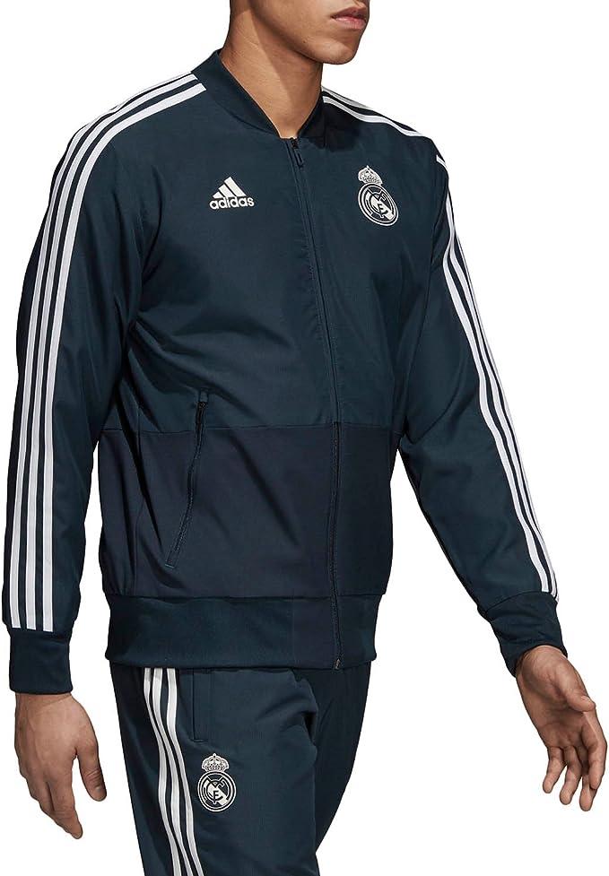 adidas Real Madrid Chaqueta de Entrenamiento, Hombre: Amazon.es ...